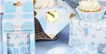 Pattern Works Blue Cupcake Cases 100pk