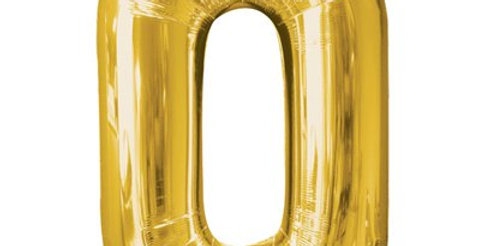 """Pink /gold Number  Balloon - 34"""" Foil (each)"""