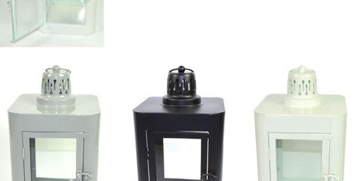 Metal Decorative  lantern 18.5x18.5x34 cm
