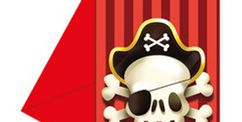 Powerful Pirates Invites (6pk)