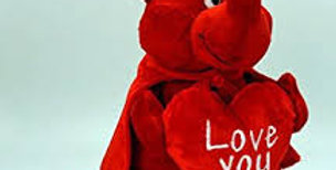 25cm / 15cm Valentines Devil soft toy