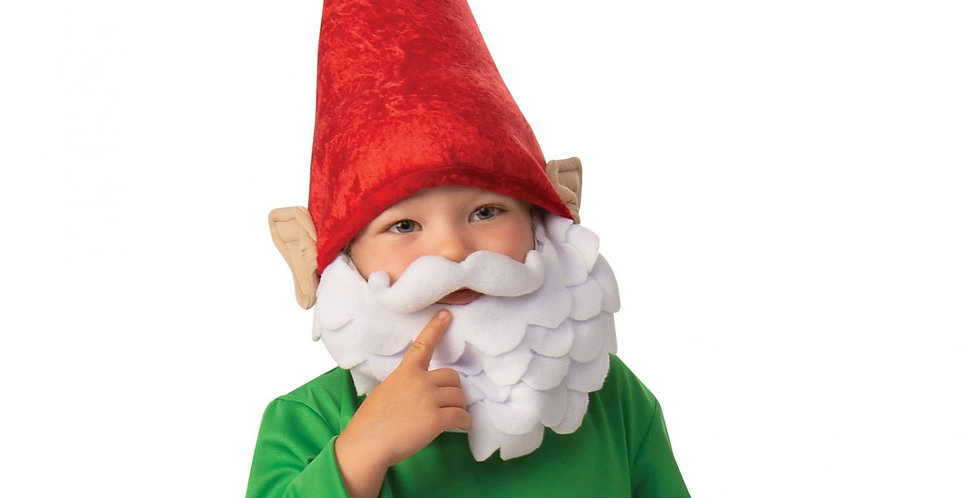 Garden Gnome Boy includes shirt,trousers with boot tops, hat and beard 6-8