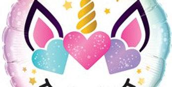 Unicorn Lashes Balloon - 18'' Foil (each)