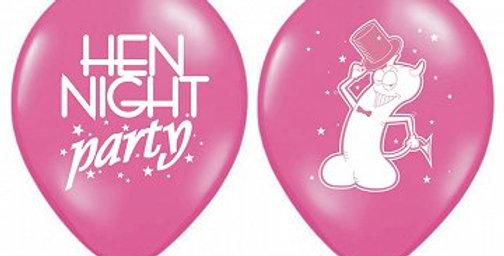 30cm Hen night balloons 6pk
