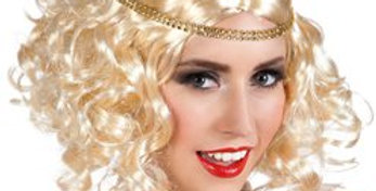 Blonde 1920s Wig with Headband (each)