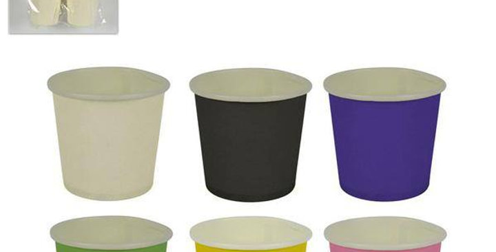 Paper coffee cups caffè 40PZ. various colours pack sold in single colour