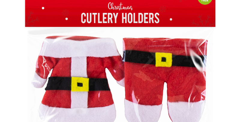 Christmas Cutlery Holders - 2 Pack