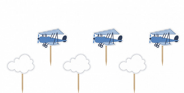 Little Plane Cupcake Toppers, 10cm  6pc