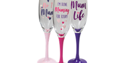 Mothers Day Prosecco Glass
