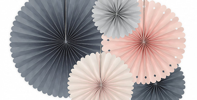 Decorative rosettes Elegant Bliss, mix of colours (light peach - , light pink -