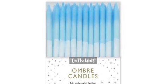 Blue Ombre Cake Candles 24ct