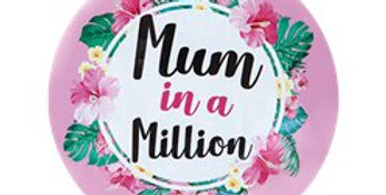 Mothers Day Jumbo Mum In A Million Badge - 15cm (each)