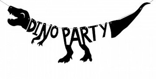 Banner Dinosaurs - Dino Party, 20x90 cm