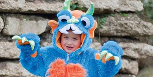 Blue Monster - Toddler and Child Costume includes jumpsuit age 1-2 years.j