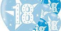 "18th Birthday Blue Balloons - 11"" Latex (6pk)"
