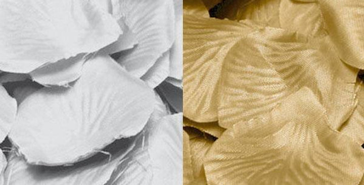 gold or silver Fabric Petals 144 pack