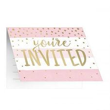 Gender Reveal Girl or Boy invitations 6pk
