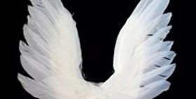Swan wing Wedding Cake Topper For Valentines Day Decor Feather Party Supplies