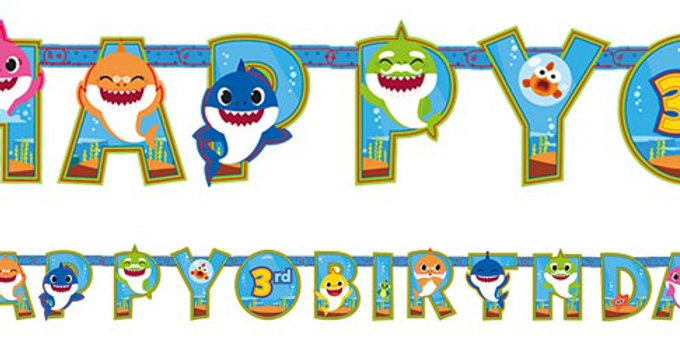 Baby Shark Add an Age Letter Banner - 3.2m x 22cm (each)