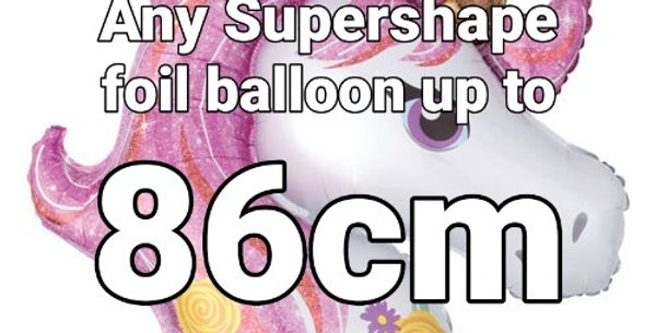 Helium for Any supershape foil balloon up to 86cm.prices for 1 balloon
