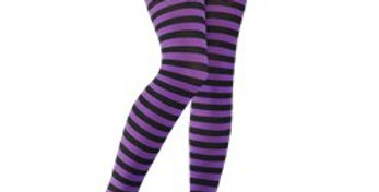 Purple Striped Tights - Adult One Size