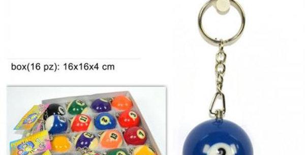 mini billiard ball keychain