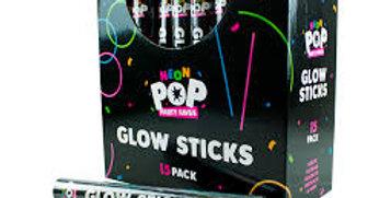 15pk glow sticks