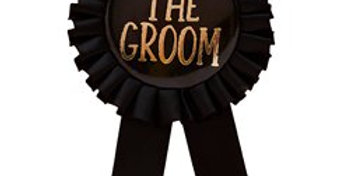 Stag Party The Groom Badge (each)