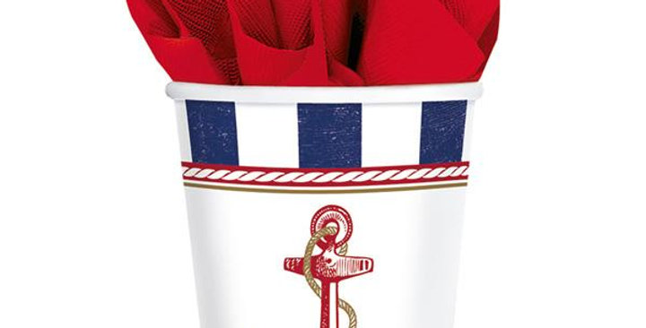 8 CUPS ANCHORS AWAY PAPER