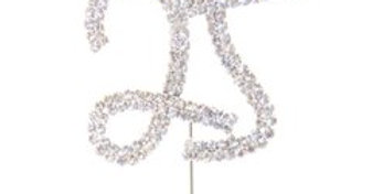 25th Birthday / Anniversary Diamante Cake Pick (each)