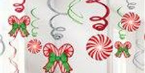 Candy Cane Pack of Swirls - 61cm (12pk)