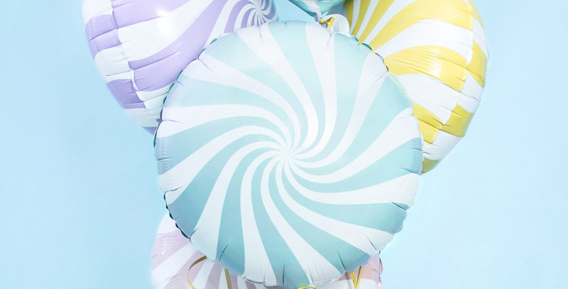 Pastel foil balloon Candy, mix of colours  size approx.18''