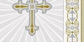 Silver & Gold Radiant Cross Napkins - 33cm  16pk