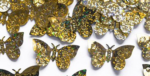 Holographic confetti butterflies  15g light pink /gold