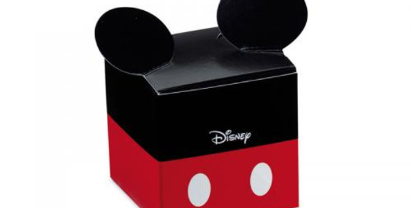 Paper square Mickey design favour box 5cm 10pz