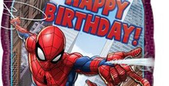 'Happy Birthday' Spider-Man Foil Balloon - 18'' (each)
