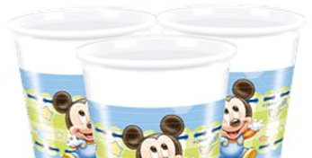 Baby Mickey Plastic Party Cups - 200ml (8pk)