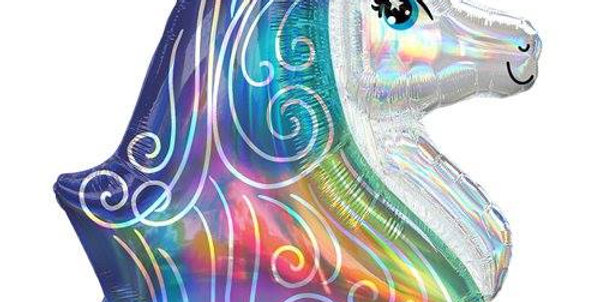 Rainbow Unicorn Iridescent Supershape Balloon - 30'' Foil