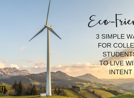 Eco-Friendly: 3 Simple Ways For College Students To Live With Intent