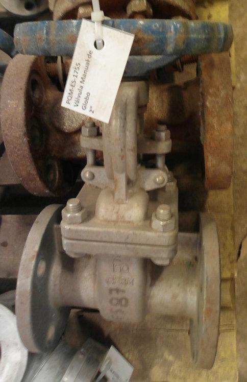 """Válvula manual de globo de 2"""" #1755"""