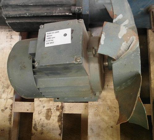 Motor de 1300 rpm, 0.75 kw #1849