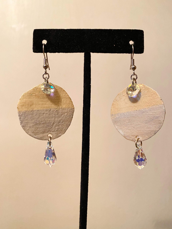 Gold + Silver Rawhide Earrings