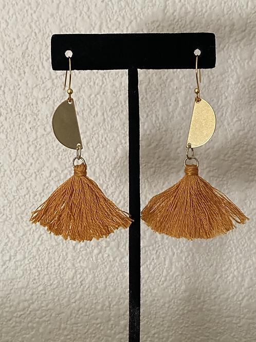 Golden Half Moon Earrings