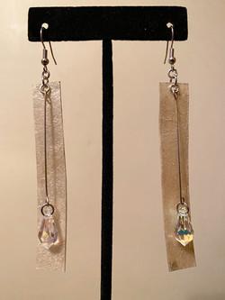 Gold Rawhide + Crystal Earrings