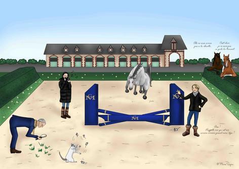La famille Mégret au Haras de Clarbec