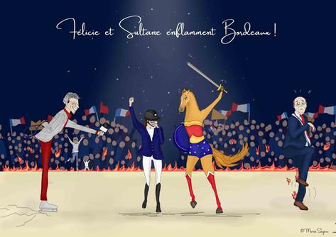 Victoire de Félicie Bertrand et Sultane des Ibis - Bordeaux 2019