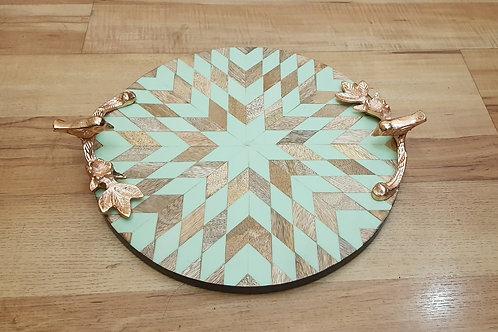 Round inlay illusion Tray