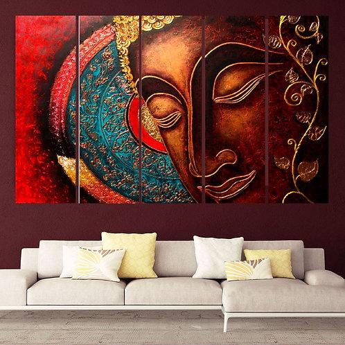 Multi Frame Wall Panel- Buddha In Serenity