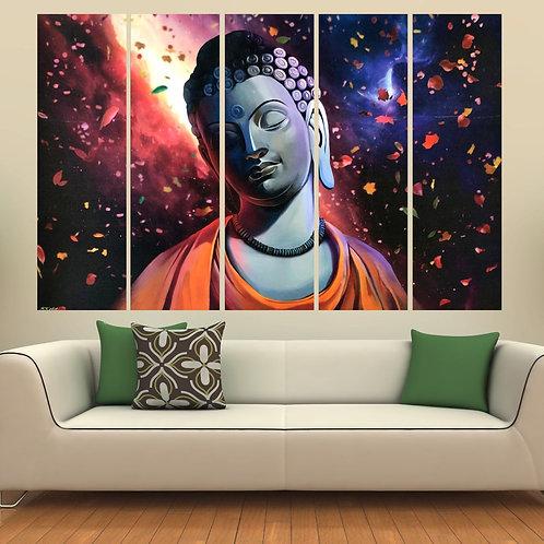 Multi Frame Wall Panel- Buddha in Harmony