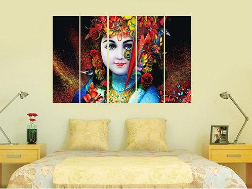 Multi Frame Wall Panel- Colorful Krishna